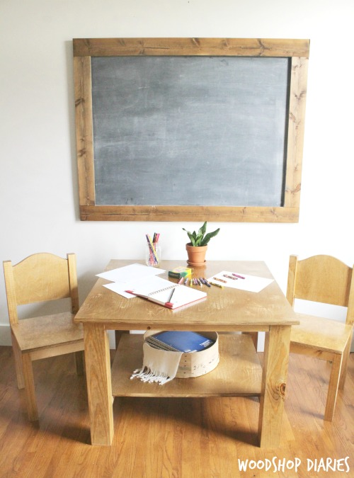 Build Your Own DIY Kid's Play Table and Chairs--Free Building Plans
