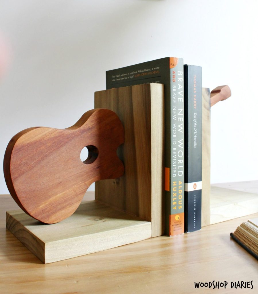 How To Build Your Own Scrap Wood Bookends Shaped Like A Guitar