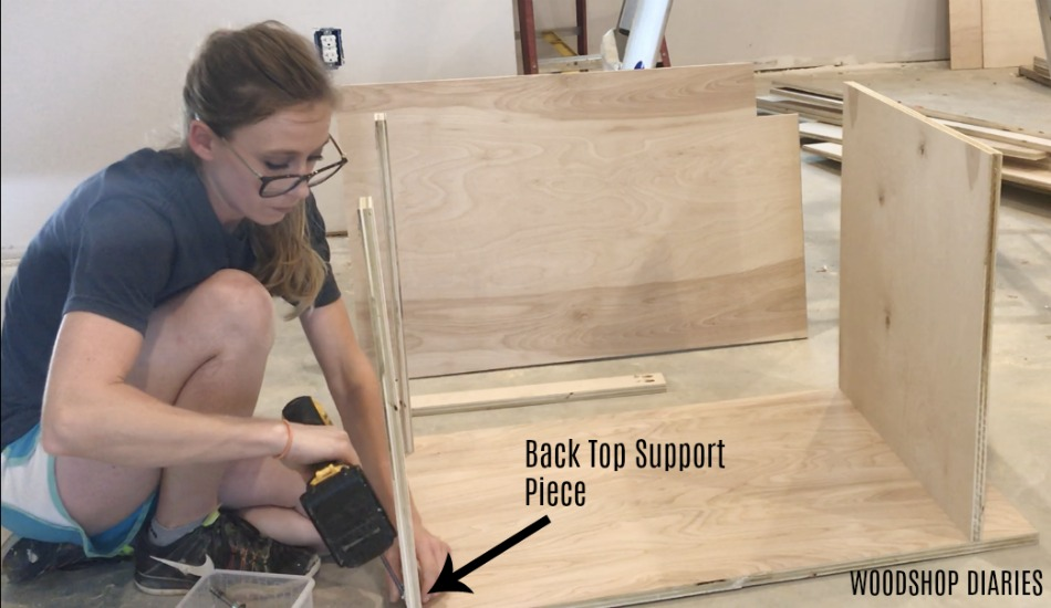 ... the top-one in the front and one in the back. Make sure the one in the front is the one with the edge banding applied. That gives you your cabinet box. & How to Build Your Own DIY Kitchen Cabinets--From Only Plywood