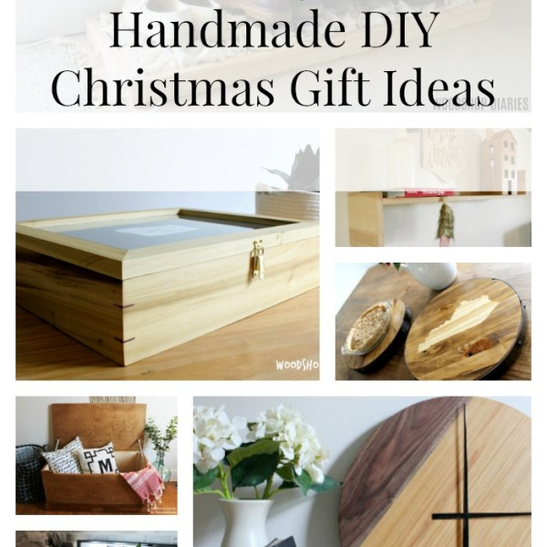 Looking for Handmade DIY Christmas Gift Ideas? Here's 25 easy ideas with free plans and tutorials included! DIY your Christmas gifts this year with something on this list for everyone on yours ;)