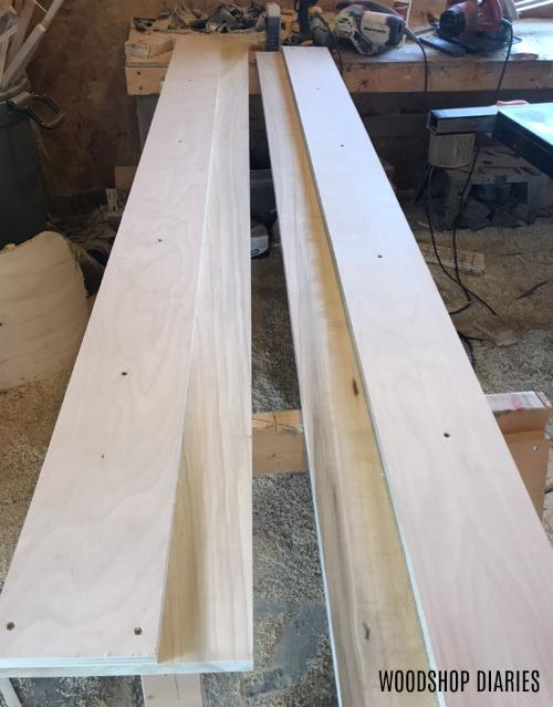 modern bed slats assembled