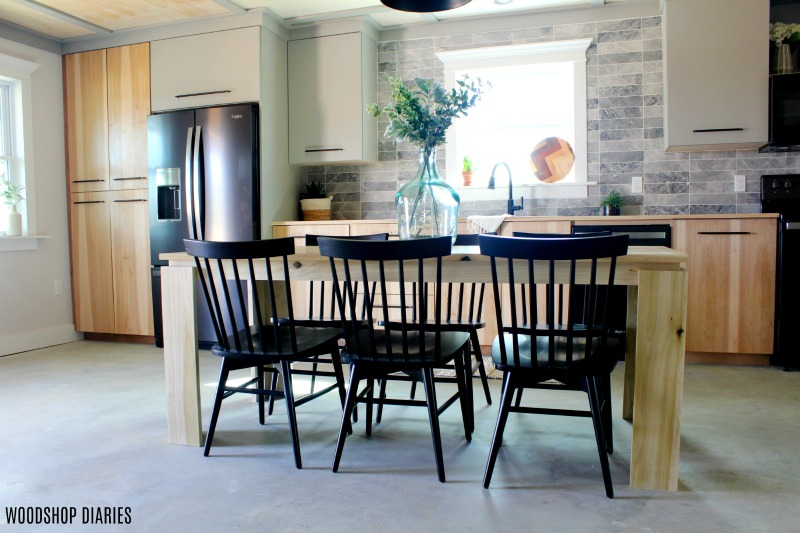 built in kitchen table open cabinets how to build a diy contemporary dining for the modern home it s really saying something that this has been on my list over two years i mean after
