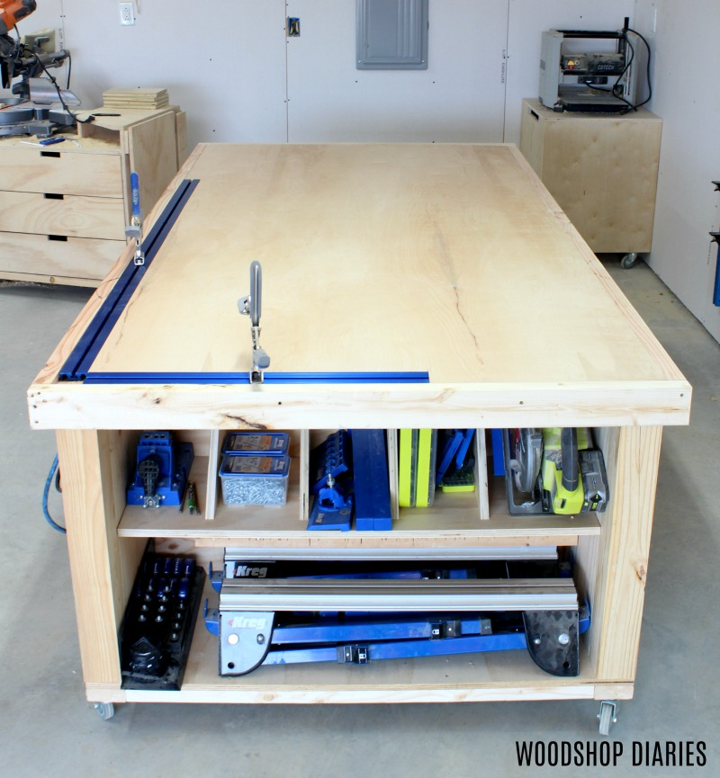 Terrific How To Build A Diy Mobile Workbench 3 In1 Storage Outfeed Creativecarmelina Interior Chair Design Creativecarmelinacom