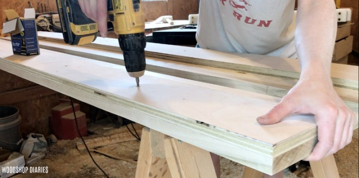 screw bed slats supports into bed rail