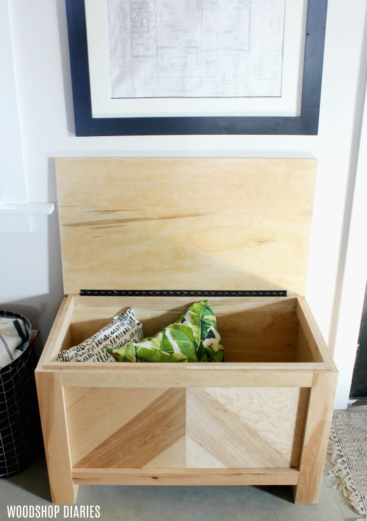 How to Build a Modern Rustic DIY Toy Box Storage Trunk