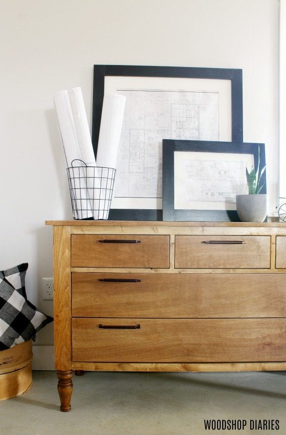 Build Your Own DIY Dresser with this Tutorial--Traditional Style Dresser that works great in the bedroom, or as a console in living or dining room