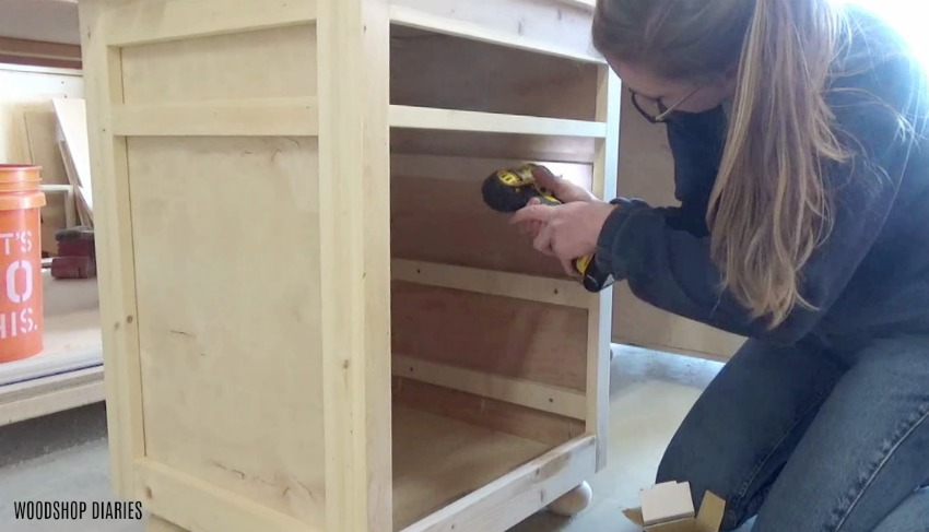 Install spacer blocks before mounting slides on cabinets with face frames