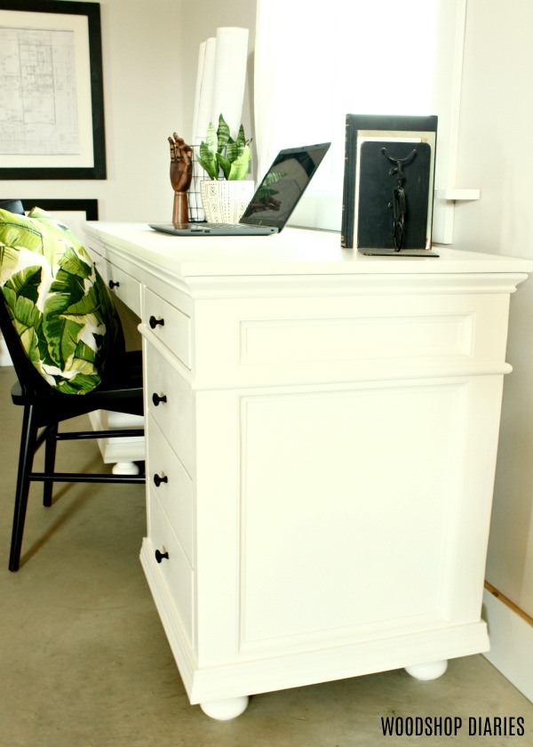 DIY Desk Perfect for Home Office--Building Plans and Video Tutorial