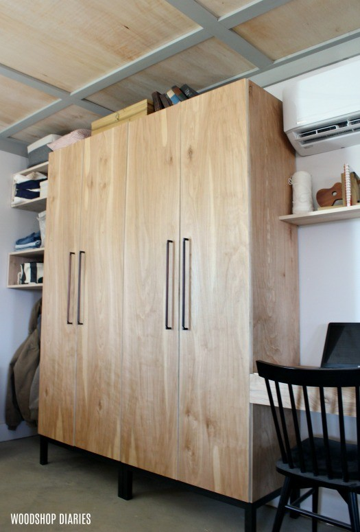 diy closet cabinet with adjustable shelves shoe rack and hanger rod rh woodshopdiaries com making your own kitchen cabinets build your own cabinets ikea