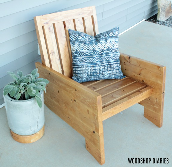 Small How to Build a Modern Wooden Outdoor Chair - Woodshop ...