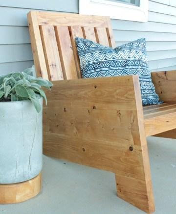 DIY Modern Outdoor Wooden Patio Chair