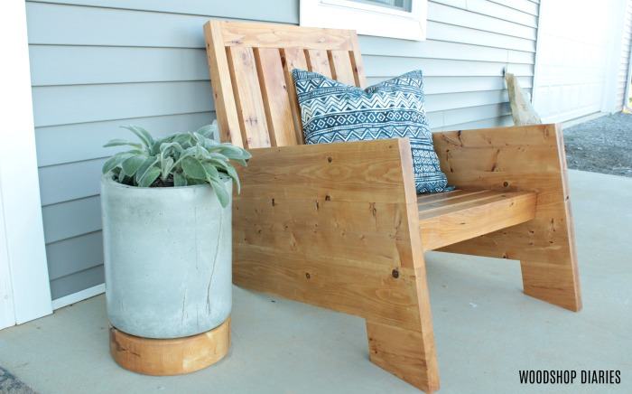 DIY Modern Outdoor Wooden Patio Chair