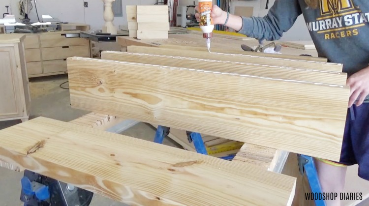 Admirable Glue Up Diy Round Pedestal Coffee Table Top Boards With Wood Download Free Architecture Designs Scobabritishbridgeorg