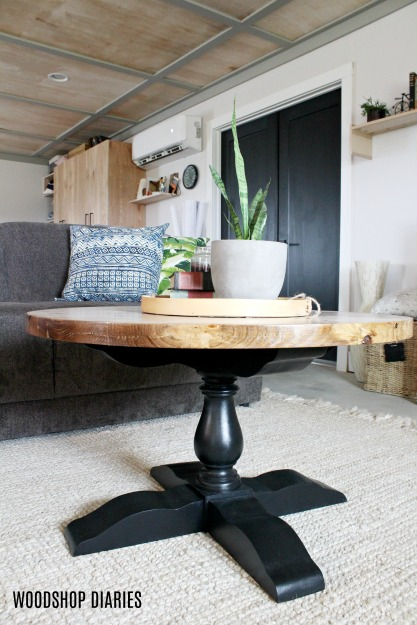 DIY Round Coffee Table--DIY Furniture Plans