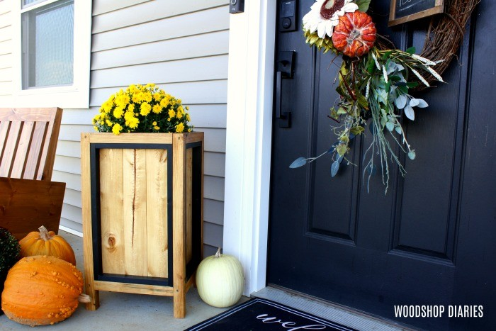 Simple DIY Wooden Planter Box