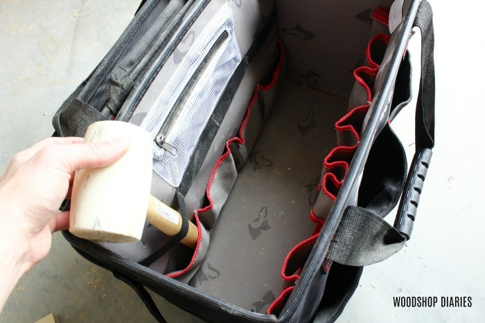 Tool Tote for carrying small parts on the go