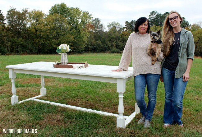 DIY Outdoor Dining Table with Shara from Woodshop Diaries and her mom