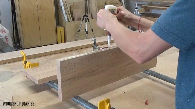 Glue up boards to make pumpkin plate