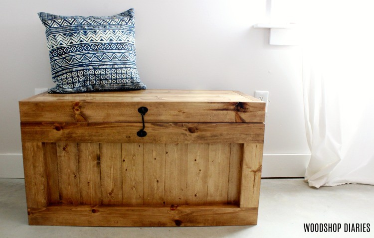 DIY Hope Chest as Entryway Bench