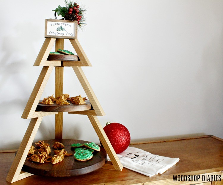 Tiered Christmas tree candy stand