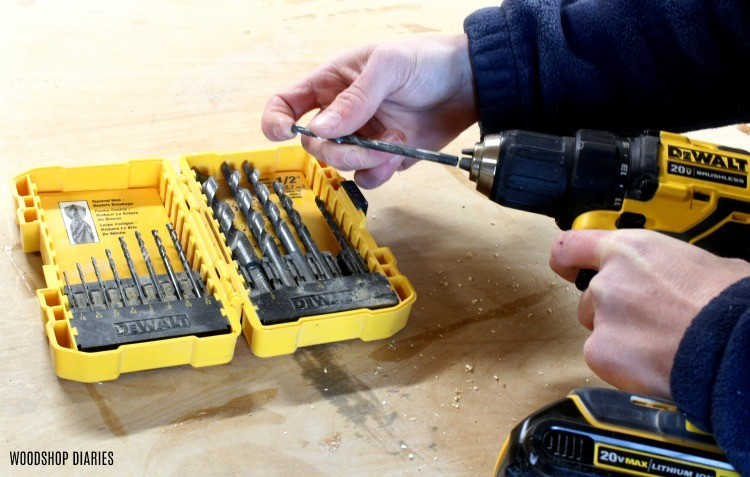 Drill bit set as gift guide idea under $15