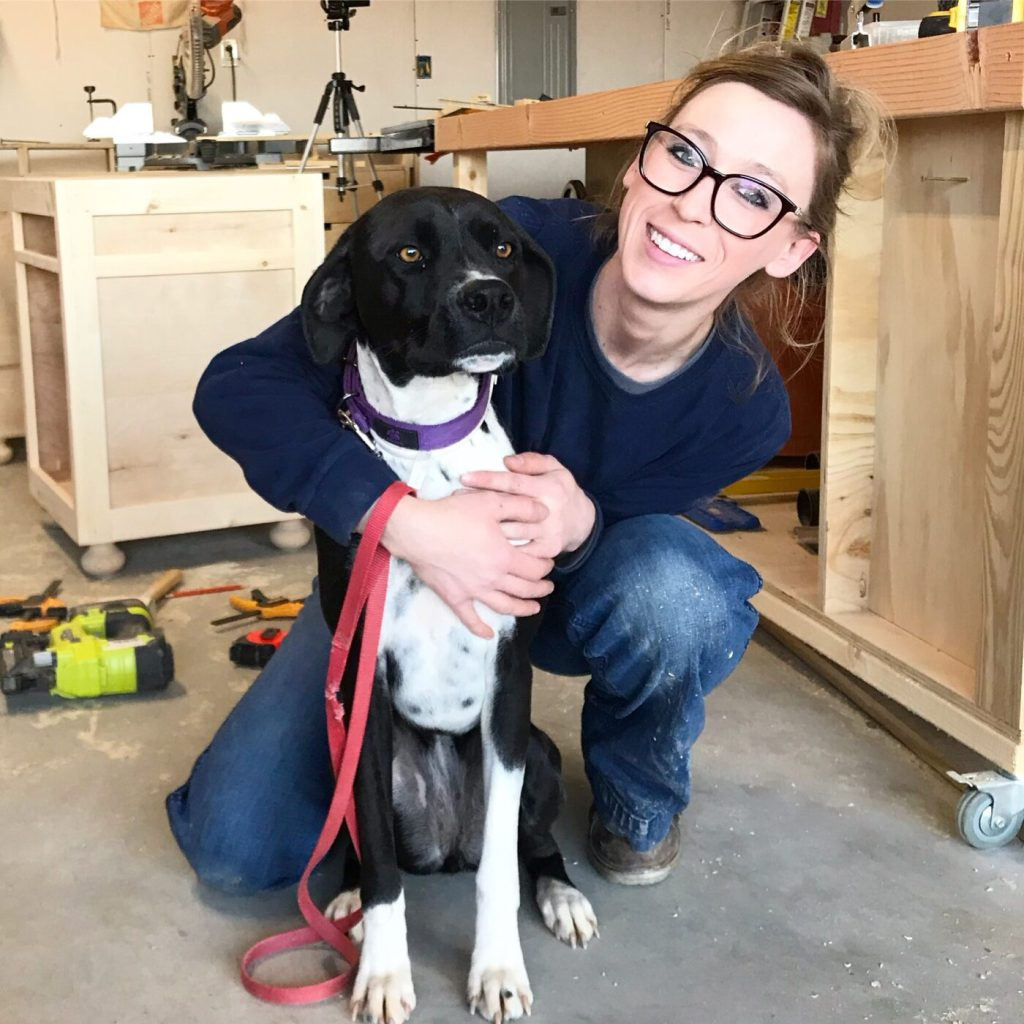 Shara Woodshop Diaries and Shop Dog, Lucy