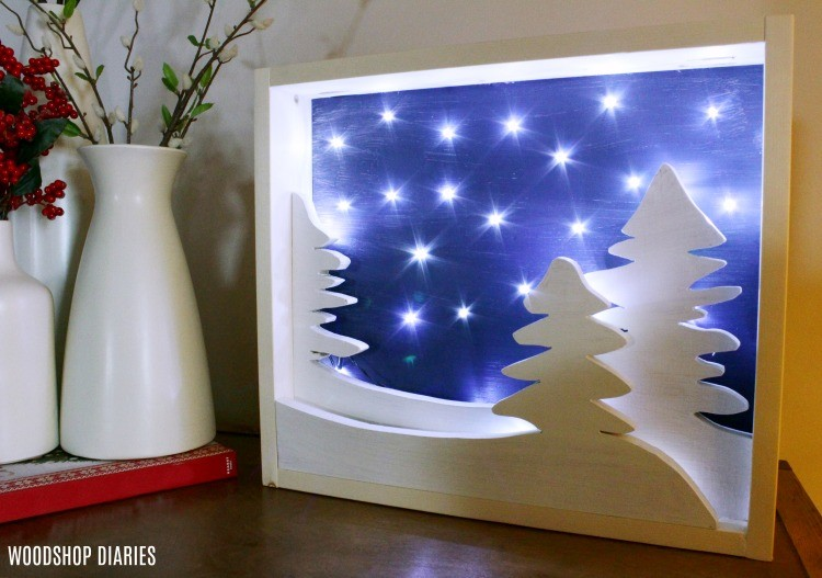 Free template to make your own DIY light up Christmas Art