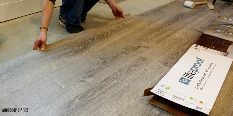 LifeProof Vinyl Plank Flooring installation with box