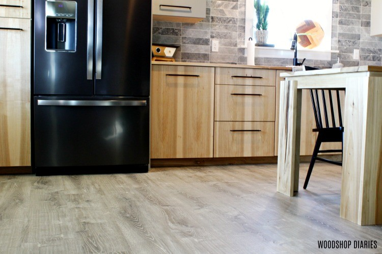 Why we chose LifeProof Vinyl Flooring in our kitchen--it's waterproof