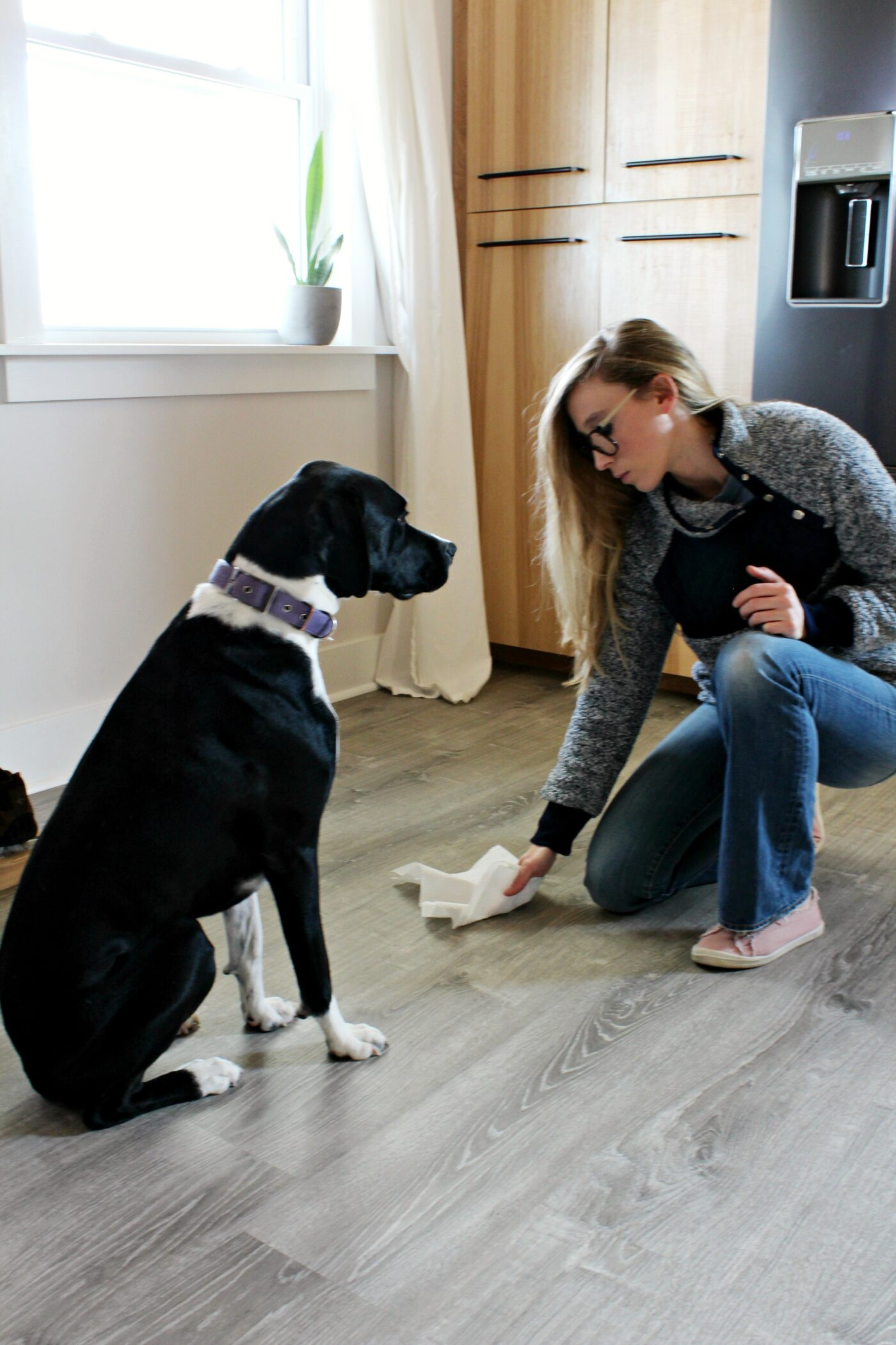 LifeProof vinyl flooring is easy to clean and great with pets