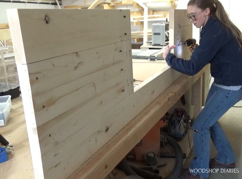 Installing front panels into front bed frame