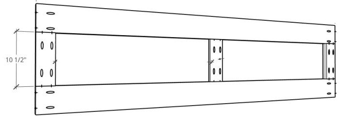 3D diagram of house bed back panel