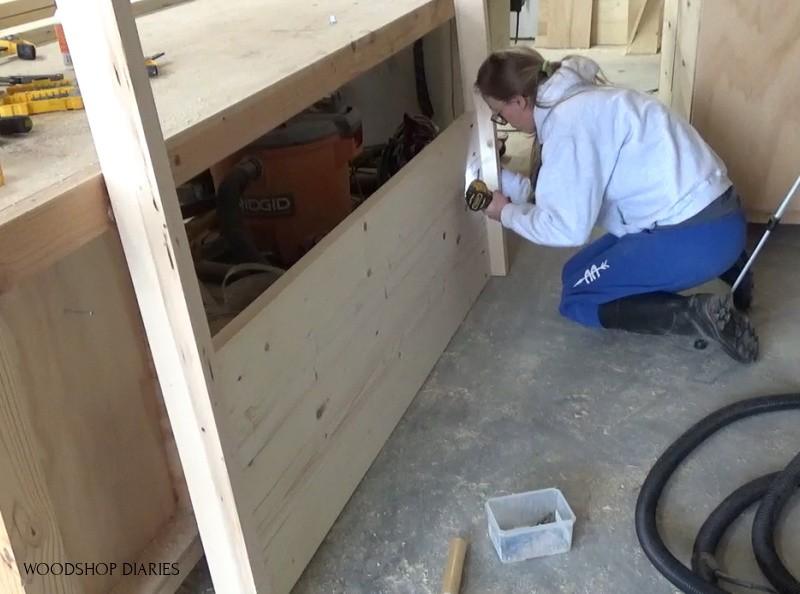 Installing solid side panels into bed frame sides