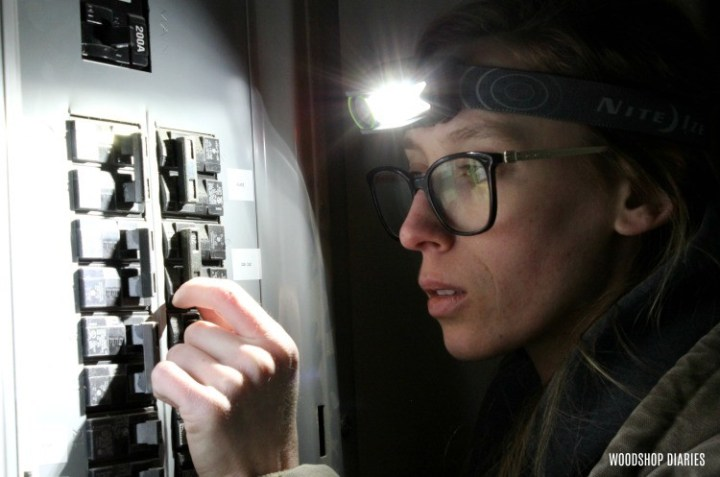 Headlamp excellent new homeowner gift idea used to check circuit breakers