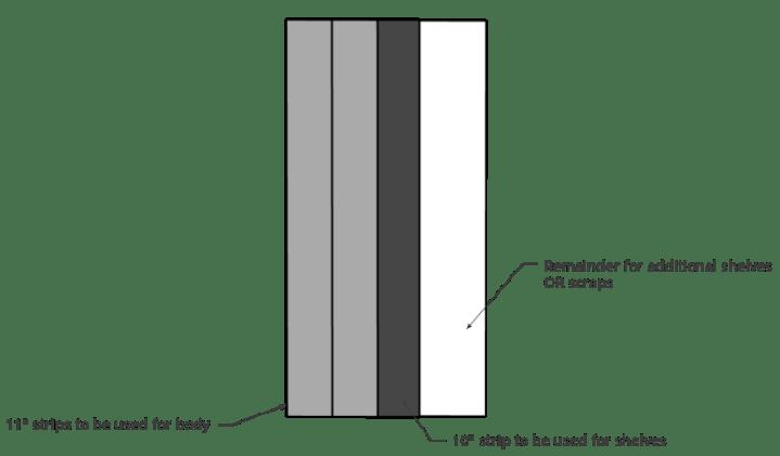plywood cut diagram for bookshelf