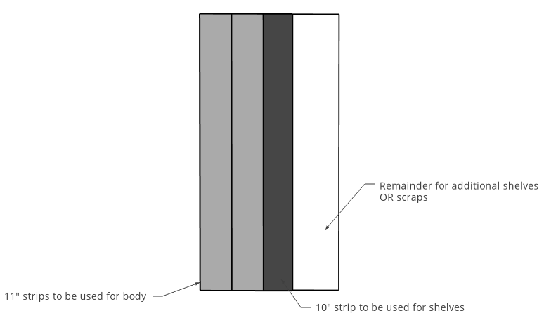 plywood cut diagram for bookshelf
