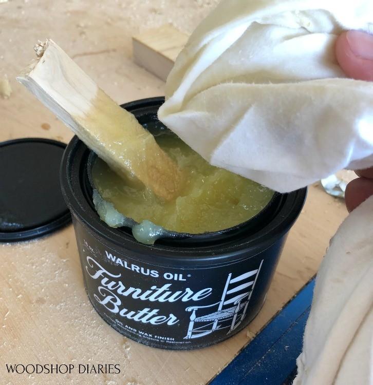 Walrus oil furniture butter can