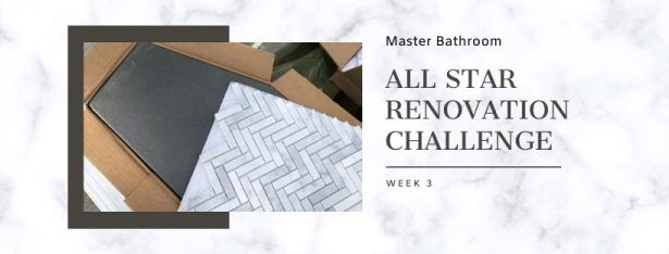 Master bathroom all star renovation challenge week 3 graphic