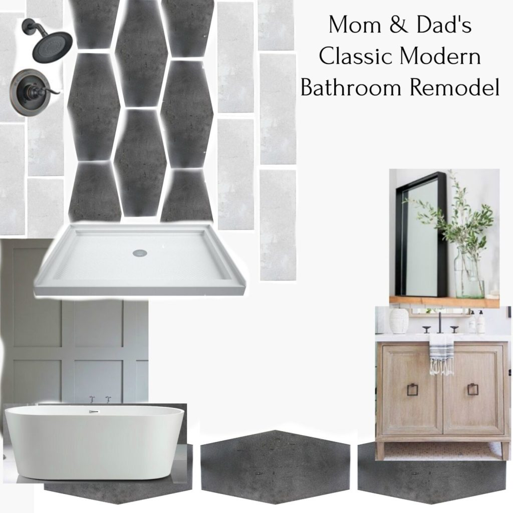 Mood board for parents master bathroom renovation