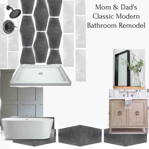 Mood board for master bathroom renovation