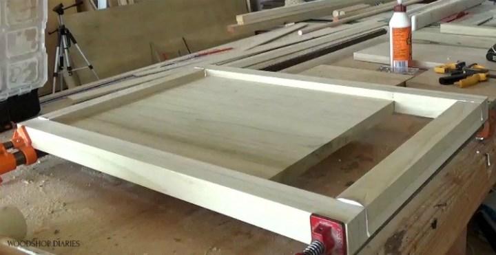Clamp glued up side panels