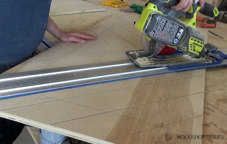 Cutting design into sliding doors for entertainment center cabinet
