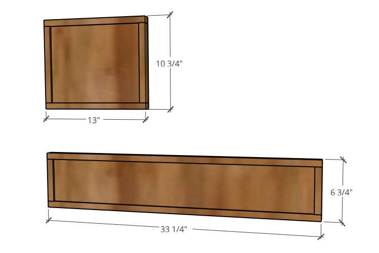 overall drawer front dimensions diagram