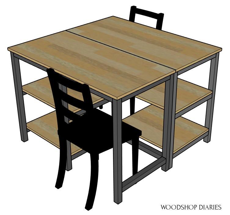 2 desk pod configuration
