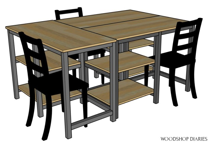 3 desk pod configuration