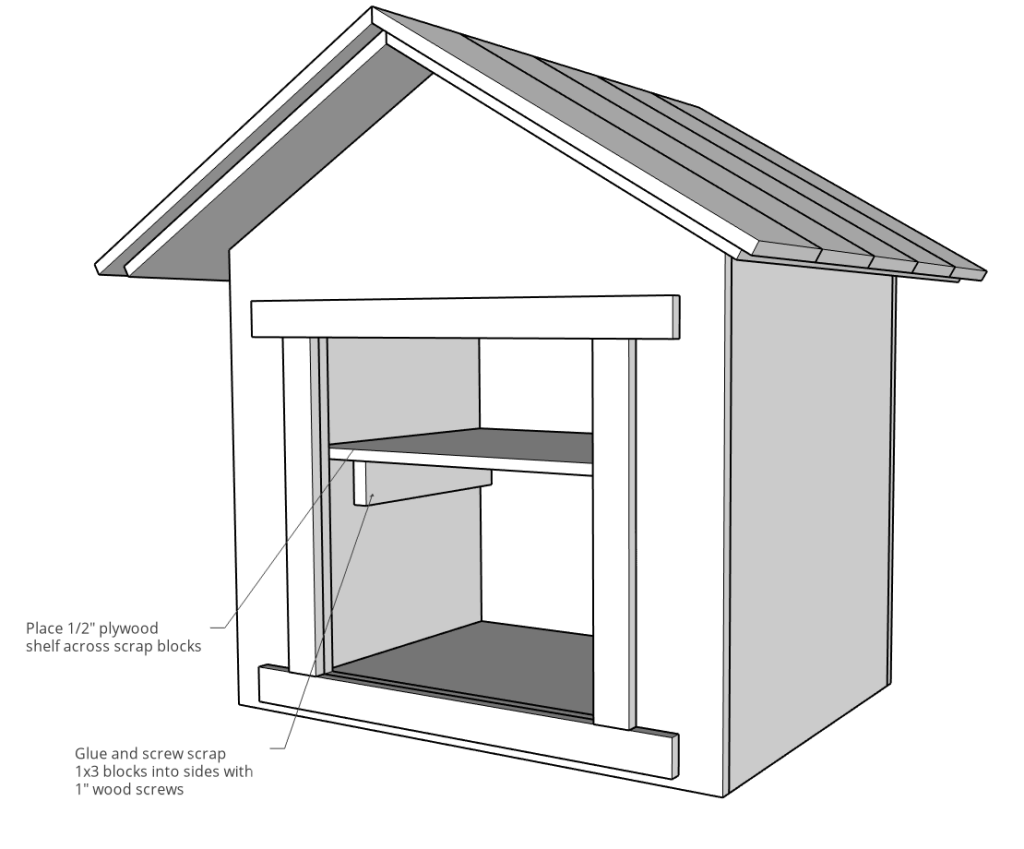 Add scrap blocks and shelving to blessing box inside diagram
