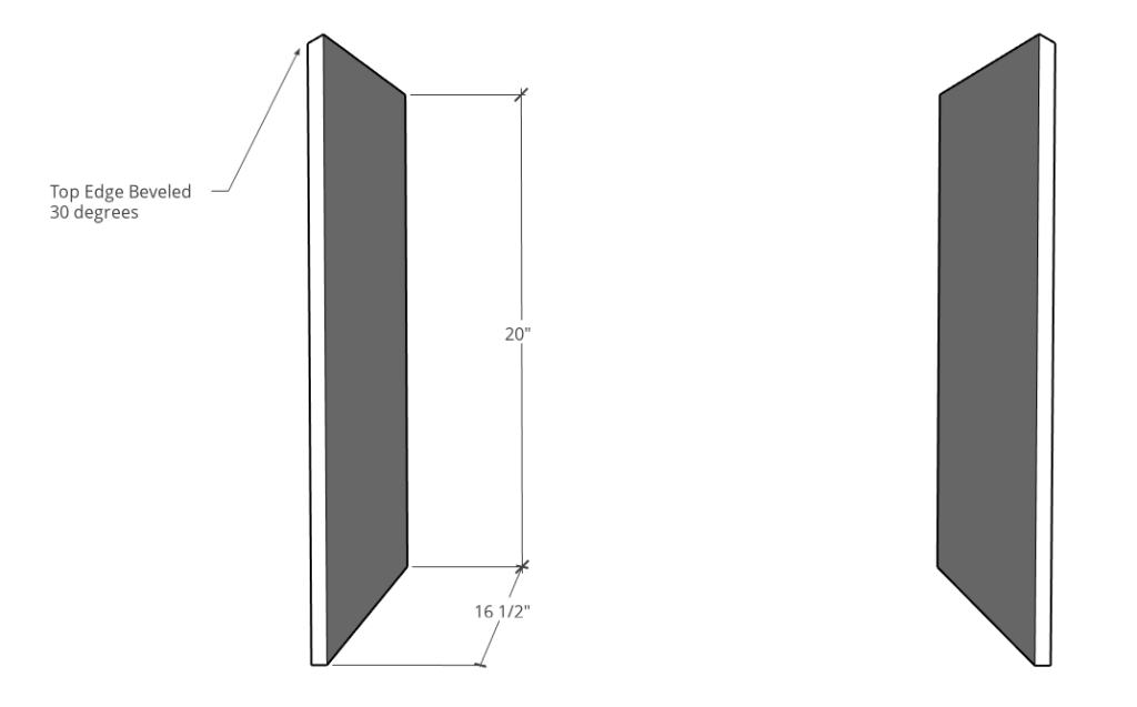 Side panel dimensions for blessing box