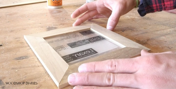 Lattice trim frame for floating picture frame