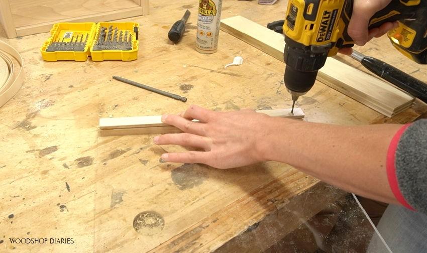 predrilling holes for plexiglass handles