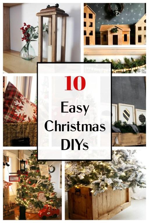 Pinterest collage of 10+ easy Christmas DIYs